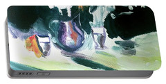Portable Battery Charger featuring the painting Shadow Stillness by John Jr Gholson
