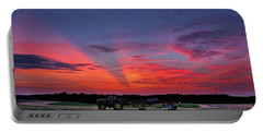 Portable Battery Charger featuring the photograph Shadow Streak Sunset by Mark Dodd