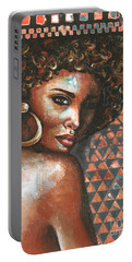 Portable Battery Charger featuring the painting Shadows by Alga Washington