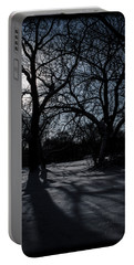 Shadows In January Snow Portable Battery Charger