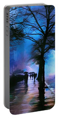 Shadows In The Rain Portable Battery Charger by John Rivera