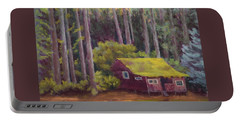 Portable Battery Charger featuring the painting Shady Grove by Nancy Jolley