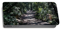 Shady Road On Mt Tamalpais Portable Battery Charger