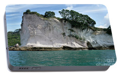 Portable Battery Charger featuring the photograph Shakespeare Rock, Coromandel, New Zealand by Yurix Sardinelly