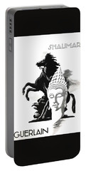 Portable Battery Charger featuring the digital art Shalimar by ReInVintaged