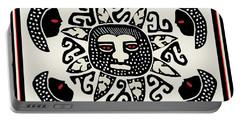 Portable Battery Charger featuring the digital art Shaman Sun Spirits by Vagabond Folk Art - Virginia Vivier