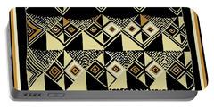 Portable Battery Charger featuring the digital art Shaman Tribal Kuba by Vagabond Folk Art - Virginia Vivier