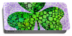 Shamrock Art By Sharon Cummings Portable Battery Charger