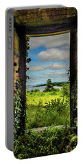 Portable Battery Charger featuring the photograph Shannon Estuary From Abandoned Paradise House by James Truett