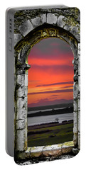 Portable Battery Charger featuring the photograph Shannon Sunrise Through Medieval Arch by James Truett