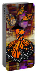 Portable Battery Charger featuring the mixed media Shape Shifting by Marvin Blaine