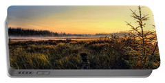 Sharing A September Sunrise With A Retriever Portable Battery Charger