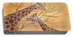 Portable Battery Charger featuring the painting Sharing by Elizabeth Lock