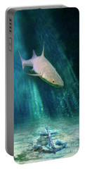 Shark And Anchor Portable Battery Charger by Jill Battaglia