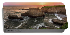 Portable Battery Charger featuring the photograph Shark Fin Cove Sunset by John Hight
