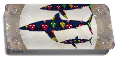 Shark Fish Dangerous Painted Cartoon Face Link For Download Option Below Personal N Commercial Uses Portable Battery Charger by Navin Joshi