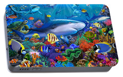 Shark Reef Portable Battery Charger by Gerald Newton