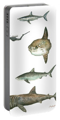 Sharks And Mola Mola Portable Battery Charger