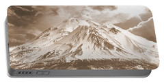 Portable Battery Charger featuring the photograph Shasta Mt by Athala Carole Bruckner