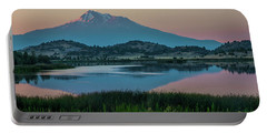Shasta Reflected Portable Battery Charger by Nancy Marie Ricketts