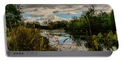 Shaw Nature Reserve Approaching Storm Photo Painting 7r2_dsc2646_10242017 Portable Battery Charger