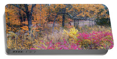 Shaw Nature Reserve Sumac Photo Painting 7r2_dsc2591_10242017 Portable Battery Charger