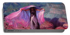 She Danced By The Light Of The Moon Portable Battery Charger