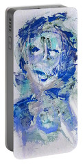 She Dreams In Blue Portable Battery Charger