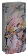 Portable Battery Charger featuring the mixed media She Got Lost On Purpose by Robin Maria Pedrero