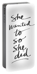 She Wanted To So She Did- Art By Linda Woods Portable Battery Charger