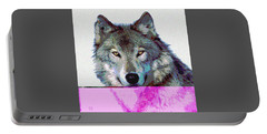 She Wolf Portable Battery Charger by Charles Shoup