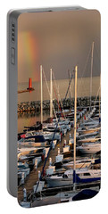 Sheboygan Harbor Rainbow Portable Battery Charger