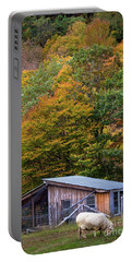 Portable Battery Charger featuring the photograph Sheep And Foliage, Bethel, Maine #40206 by John Bald