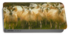 Sheep At Hadrian's Wall Portable Battery Charger