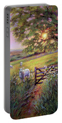Sheep At Sunset Portable Battery Charger