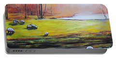 Sheep In Pasture Portable Battery Charger by Jodie Marie Anne Richardson Traugott          aka jm-ART