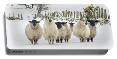 Sheep In Snow Portable Battery Charger