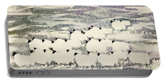 Sheep In Winter Portable Battery Charger