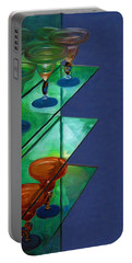 Portable Battery Charger featuring the digital art Sheilas Margaritas by Holly Ethan