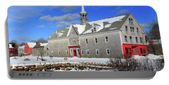 Shelburne, Nova Scotia In Winter Portable Battery Charger
