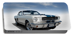 Portable Battery Charger featuring the digital art Shelby Mustang Gt350 by Douglas Pittman