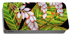Shell Ginger Flowers Portable Battery Charger
