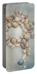 Shell Wreath Portable Battery Charger by Rebecca Cozart