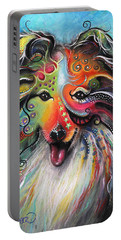 Portable Battery Charger featuring the pastel Sheltie  by Patricia Lintner