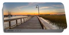 Shem Creek Pier Panoramic Portable Battery Charger