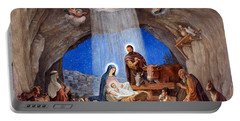 Shepherds Field Nativity Painting Portable Battery Charger by Munir Alawi