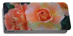 Sherbert Rose Portable Battery Charger by Marna Edwards Flavell