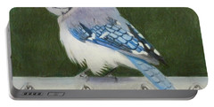 Sherrie's Bluejay Portable Battery Charger by Constance DRESCHER