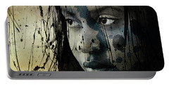 Portable Battery Charger featuring the mixed media She's Out Of My Life  by Paul Lovering