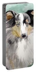 Shetland Sheep Dog Portable Battery Charger